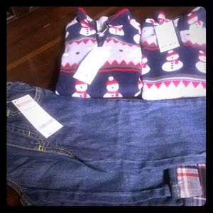 GYMBOREE boys jeans and fleece top